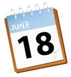 Calendar june. In blue tones vector stock illustration