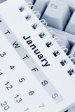 Calendar and Keyboard Stock Photo