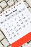Calendar and Keyboard stock photography
