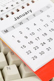 Calendar and Keyboard royalty free stock photography