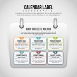 Calendar Label Infographic Stock Photography