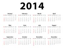 Calendar 2014 Landscape Stock Photography