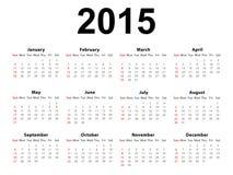 Calendar 2015 Landscape Royalty Free Stock Photos