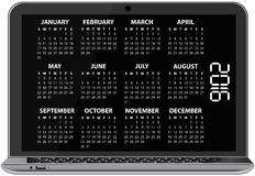 2016 calendar laptop Royalty Free Stock Photos