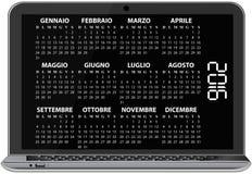 2016 calendar laptop. Illustration of 2016 calendar on screen of laptop Vector Illustration