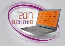 2017 calendar laptop Royalty Free Stock Photos