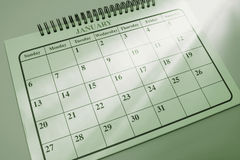 Calendar with Light Streaks Royalty Free Stock Photos