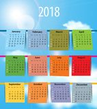 Calendar for 2018 like laundry on the clothesline Stock Images