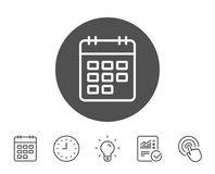 Calendar line icon. Event reminder sign. Royalty Free Stock Photo