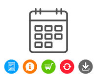 Calendar line icon. Event reminder sign. Stock Photography