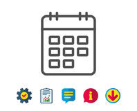 Calendar line icon. Event reminder sign. Royalty Free Stock Photos