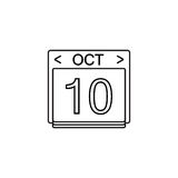 Calendar line icon, Modern sign for mobile. Interface, vector graphics, a linear pattern on a white background, eps 10 Stock Image