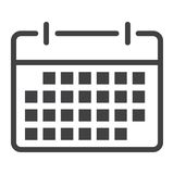 Calendar line icon, web and mobile, date sign. Vector graphics, a linear pattern on a white background, eps 10 Stock Photo