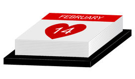 Calendar of love Royalty Free Stock Images