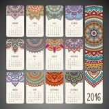 Calendar with mandalas Stock Image