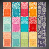 Calendar with mandalas Royalty Free Stock Photo