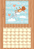 Calendar for March 2012 Royalty Free Stock Images