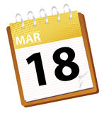 Calendar march. In vector mode Royalty Free Stock Photography