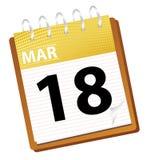 Calendar march. In vector mode Vector Illustration