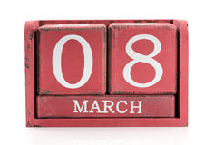 Calendar March 8 Royalty Free Stock Image