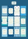 Calendar-2017 marino illustrazione di stock