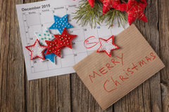 Calendar with marked date of christmas day Stock Photography