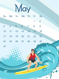 Calendar  for May Stock Photo