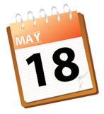 Calendar may Royalty Free Stock Photos