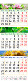 Calendar for May June July 2017 with pictures. Office calendar for three months May June and July 2017 with pictures of nature royalty free illustration