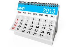 Calendar May 2013. 2013 year calendar. May calendar on a white background Royalty Free Stock Photos