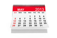 Calendar May 2013. 2013 year calendar. May calendar on a white background Stock Image