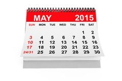 Calendar May 2015. 2015 year calendar. May calendar on a white background Stock Photography