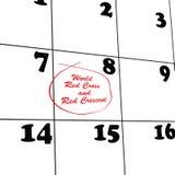 Calendar medical organization Stock Photography