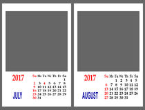 Calendar mesh. Royalty Free Stock Images