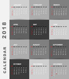 2018 calendar minimalist design. Sample Stock Images
