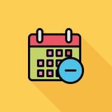 Calendar with minus Royalty Free Stock Photos