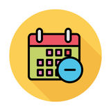 Calendar with minus Stock Image