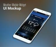 Calendar mobile app UI smartphone mockup Royalty Free Stock Photos