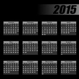 Calendar 2015 monday firts Royalty Free Stock Images