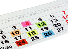Calendar month royalty free stock images