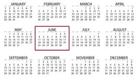 Calendar month border box moving from jan to december animation background.  royalty free illustration