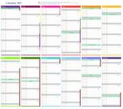Calendar 2017 Royalty Free Stock Photo