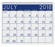 2018 Calendar: Month Of July With Independence Day Stock Photo
