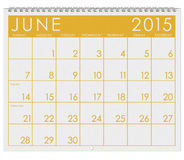 2015 Calendar: Month Of June Royalty Free Stock Images