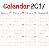 Calendar 2017. Stock Images