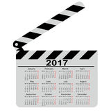 Calendar for 2017, movie clapper board. Vector Illustration. Calendar for 2017 movie clapper board Vector Illustration stock illustration