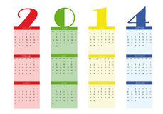 Calendar 2014. New calendar 2014 in english vector illustration
