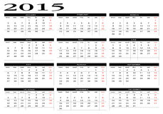 Calendar 2015. New calendar 2015 in english Royalty Free Illustration
