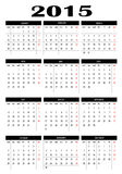 Calendar 2015. New calendar 2015 in english Stock Illustration