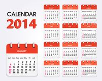Calendar 2014 new. Vector Calendar 2014, All Elements Are In Separate Layers And Grouped, Easy To Edit Vector Illustration